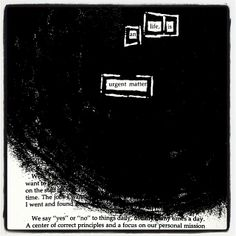 Utmost Importance: Make Black Out Poetry, Black Out Poetry, Poetry