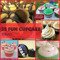25 Fun Cup Cake Ideas from sixsistersstuff.com