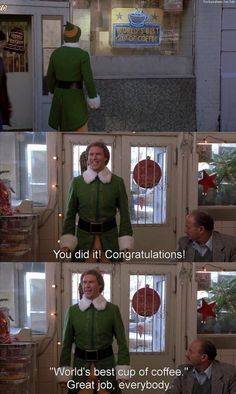hahaha I want him to congratulate me like that for when I do something good, even if I don't! :D