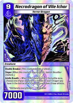 Necrodragon of Vile Ichor from 'Dragon Master Collection Kit' needs mouthwash http://www.examiner.com/article/necrodragon-of-vile-ichor-from-dragon-master-collection-kit-needs-mouthwash #Kaijudo #games #dragon #fantasy #geek #cardgames #article #examinercom