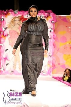 Amazon Plus Size Model Candice Kelly wearing Elocin Plus @ The Annual Full Figured Fashion Week NYC 2014