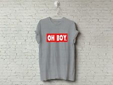 NEW Unisex Mens Womens Funny Novelty OH BOY Printed T-SHIRT Hipster Tumblr Swag