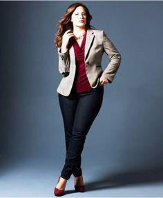 Casacos, casaquinhos, blazers e jaquetas para mulheres plus size