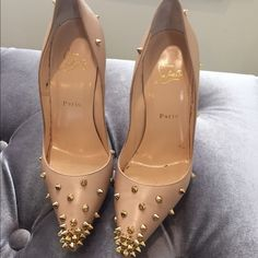 Christian Louboutin Degraspikes Great condition. Comes with box. Dust bag. Christian Louboutin Shoes Heels