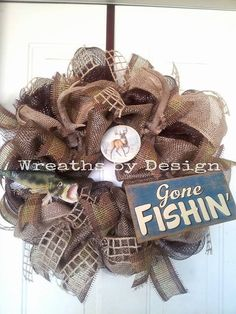 Fishing and Hunting Wreath by WreathsbyDesign1 on Etsy, $85.00