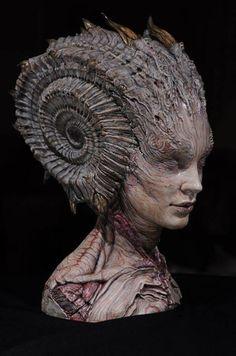 Artist name in English? Dark Fantasy, Fantasy Art, Monster Face, Arte Horror, Maquillage Halloween, Creature Concept, Creature Design, Art Design, Fantasy Creatures