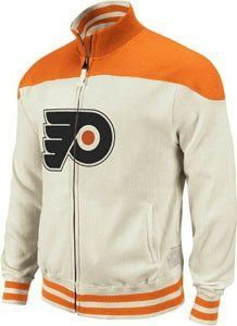 Philadelphia Flyers Reebok Vintage Throwback Full Zip Track Jacket (Medium) by Reebok. $99.00. If you're looking for a stylish and comfortable coat, this Reebok Retro Sport Vintage full zip track jacket is for you. This throwback jacket features your favorite vintage team logo in felt applique embroidered on the chest, double washed material: classic/silicone, nicking & grinding, Retro Sport jock tag with repair stitches, metro fit, and made of 100% polyester swe...