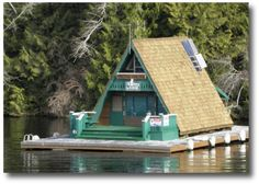 Floating home in Barkley Sound on Vancouver Island. Canada (now this is the life)
