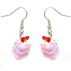 Seasons Online Kitsch Strawberries & Cream Earrings: Amazon.co.uk: Jewellery
