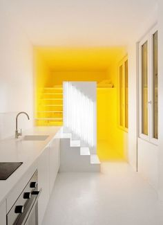 Smart Decorating Idea: Add Color with Light | Apartment Therapy #yellow #light #design #styling