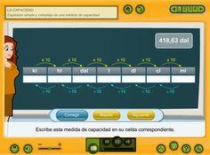 Expresión simple y compleja de medidas de capacidad