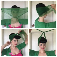 How to Tie a Vintage Hair Scarf // Miss Victory Violet