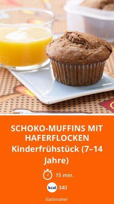 Schoko-Muffins mit Haferflocken - Kinderfrühstück (7–14 Jahre) - smarter - Kalorien: 340 kcal - Zeit: 15 Min. | eatsmarter.de