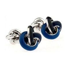 Gemelos Igemelos Nudos de Acero esmaltado azul y Azul marino  http://www.tutunca.es/gemelos-igemelos-nudos-de-acero-esmaltado-azul-y-azul-marino