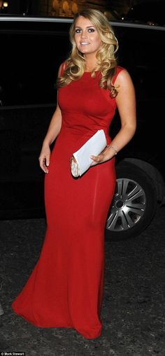 10/23/14.   Glamorous: Lady Kitty Spencer, niece of Diana Princess of Wales and cousin of Prince William and Prince Harry, arrived at the Corinthia Hotel London for the Give Us Time Gala last night in a dazzling red evening gown