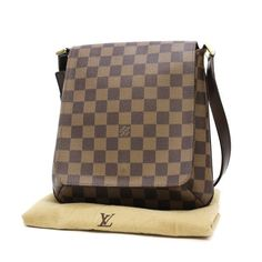 Louis Vuitton Musette Salsa Short  Damier Ebene Shoulder bags Brown Canvas N51300