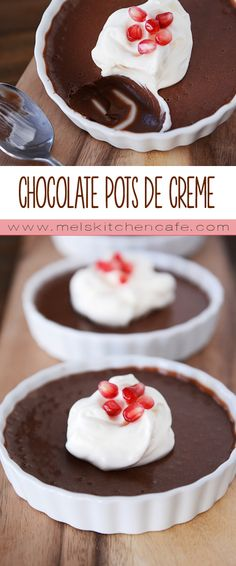 These Chocolate Pots de Creme are elegant and amazingly easy.