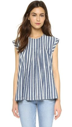 Madewell Inverted Box Pleat Top
