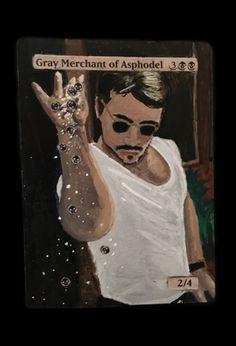 Mtg Alter: Gary as Salt Bae Fun Card Games, Magic The Gathering Cards, Magic Art, Alters, Mtg, Babe, Baseball Cards