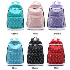 Leisure Sweet Dot Star Pattern School Backpacks – wikoco#bag #Backpack #school#schoolbackpack