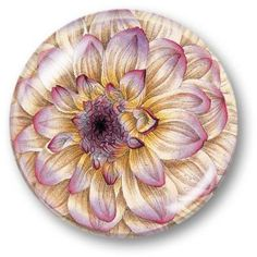 Dahlia - Crystal Dome Paperweight