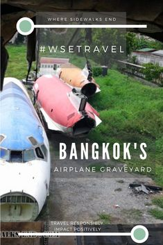 Have you ever heard of the Bangkok airplane graveyard? Just outside of town lays this cemetery of airplanes, where locals have set up homes and charge a small fee to visit this weird place. Talk about Bangkok off the beaten path! Discover how to visit the BKK airplane graveyard, one of the most unusual things to do in Bangkok, Thailand. #bangkok #bkk #thailand #bangkokbits #bangkokthailand #offthebeatenpath #unusual
