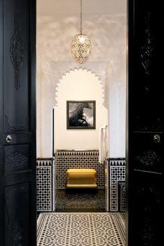 Spa Bathroom Design Ideas For Your Dream House - Moroccan Decor Moroccan Bathroom, Bathroom Spa, Gray Bathrooms, Modern Bathroom, Small Bathroom, Moroccan Design, Moroccan Style, Moroccan Art, Modern Moroccan Decor