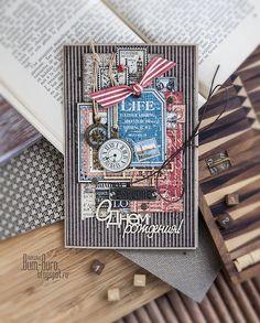 Scrapbooking. A card for man. Бум-Бюро: Две мужские открытки