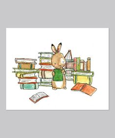 Take a look at this Bookish Bunny Print by trafalgar's square on #zulily today!