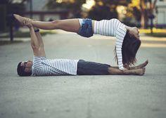 Try for candle light yoga tonight? Or yoga tomorrow? Couples Yoga Poses, Acro Yoga Poses, Partner Yoga Poses, Yoga Poses For Two, Two Person Yoga Poses, 2 People Yoga Poses, Group Yoga Poses, Funny Couple Poses, Yoga Bewegungen