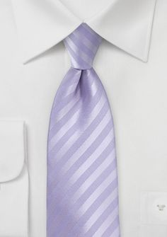 Summer Stripe Tie in French Lavender | Bows-N-Ties.com