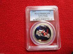 Cook Islands Is 2005 $5 Ferrari F2004 PCGS PR68 Silver Coin Bullion Low Pop Car…