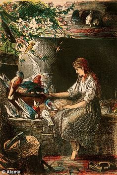 Gruesome: In the original Cinderella, her stepsisters try to cut off part of their feet with a knife so they can fit into the slipper