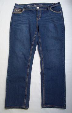 Lane Bryant Straight Leg Jeans Pants Plus Size 20 #LaneBryant #StraightLeg