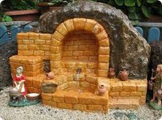 Ceramic Houses, Christmas Nativity, Diy And Crafts, Christmas Decorations, Miniatures, Dolls, Wood, Inspiration, Crib