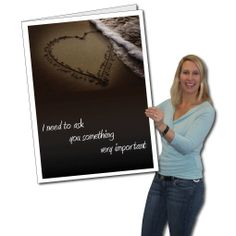 big funny valentines day card made from 4mm corrugated plastic comes with its