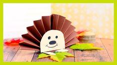 Hedgehog Paper Rosette - simple Fall craft idea for kids