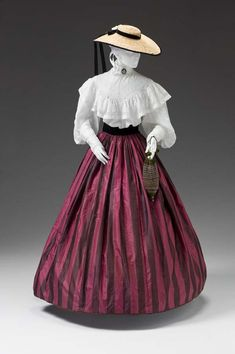 Skirt: ca. 1850-1860, American, silk taffeta.