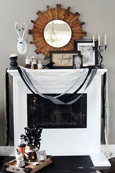 Interior Design: Halloween Home Decor Tour - Entertain | Fun DIY Party Craft Ideas