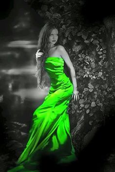 Touch of colour Neon Purple, Neon Colors, Neon Green, Black N White Images, Black And White, Color Splash Photo, Scenery Photography, Strapless Dress Formal, Color Pop