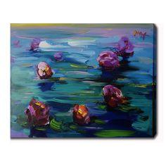 YGC Claude Monet 'Water Lilies' Oil on Art