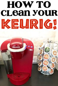 How to Clean Keurig Coffee Maker with Vinegar! This EASY trick works like a charm and will keep your Keurig running in tip top shape! Give it a try this week! - Coffee Maker - Ideas of Coffee Maker Deep Cleaning Tips, House Cleaning Tips, Cleaning Solutions, Spring Cleaning, Cleaning Hacks, Cleaning Products, Diy Hacks, Homemade Toilet Cleaner, Clean Baking Pans