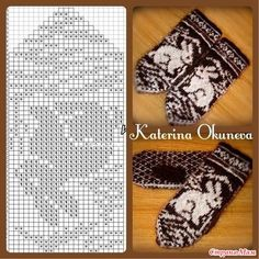 Knitting mittens pattern inspiration ideas for 2019 Knitting Charts, Knitting Stitches, Knitting Patterns Free, Free Knitting, Baby Knitting, Crochet Mittens Pattern, Knit Mittens, Knitted Gloves, Knitting Designs