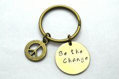 Peace Keychain Hippie Keychain Boho Keychain by BeautyInBaubles