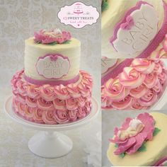 Buttercream Baby Shower - by cjsweettreats @ CakesDecor.com - cake decorating website