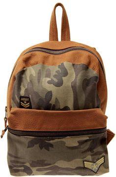 3b7f0db96e73 Sabrina Tach Campus Camo Backpack - Lyst Camo Bag