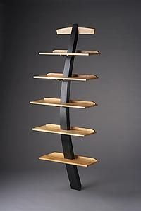 Recurve by Brian Hubel: Wood Shelf available at www.artfulhome.com