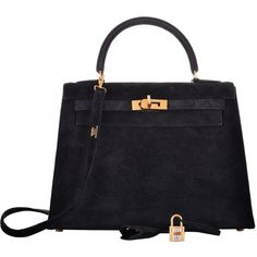 Pre-owned HERMES KELLY 25CM BLACK SUEDE WITH DIAMONDS SUPER RARE... (1 783 820 UAH) ❤ liked on Polyvore featuring bags, handbags, сумки, handbags and purses, hermes kelly bags, top handle bags, handbags purses, diamond purse, hermes bag and man bag