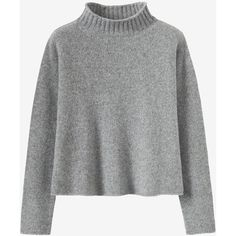 SOFT MERINO ROLL NECK SWEATER (645 RON) ❤ liked on Polyvore featuring tops, sweaters, merino sweater, merino top, merino wool top, rollneck sweaters and roll-neck sweaters