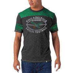 '47 Brand Philadelphia Eagles Vintage Top Gun T-Shirt - Midnight Green